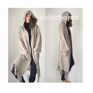 CHICBOMB Sweaters - MARA Knit hooded long cardigan.